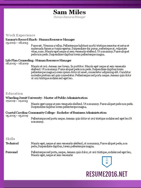 up to date resume format 2016 functional resume exle models picture