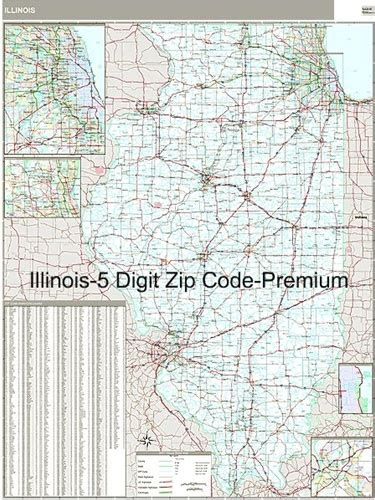 It Only It Were Zip by Illinois Zip Code Map With Wooden Rails From Onlyglobes
