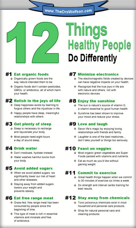 Things To Do For Healthy by 12 Things Healthy Do Differently