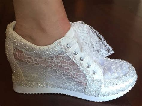 Wedding Shoes With Pearls by 41 Breathtaking Lace Wedding Shoes To Per Your