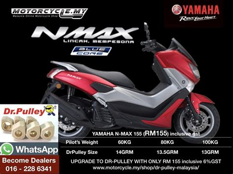 Pulley Racing Nmax yamaha nmax155 dr pulley sliding roller