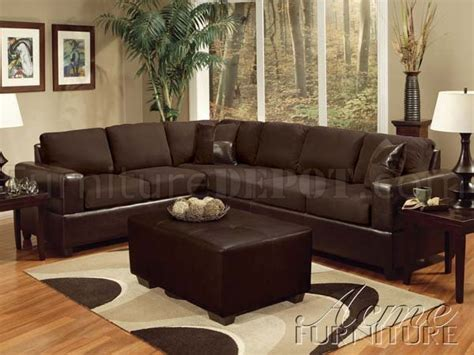vinyl sectional chocolate fabric espresso vinyl modern sectional sofa