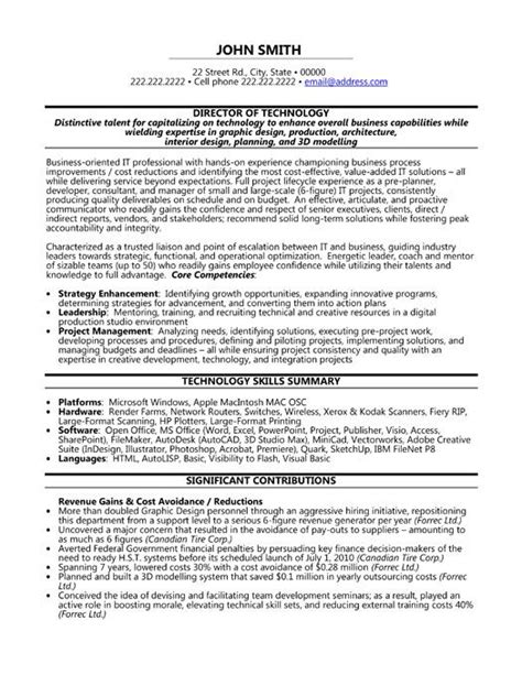 Information Technology Resume Templates by Click Here To This Director Of Technology Resume Template Http Www