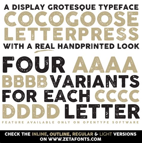 Dafont Cocogoose | cocogoose letterpress font dafont com