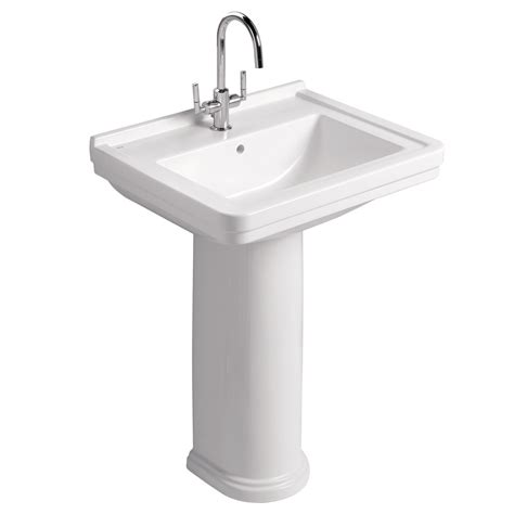 traditional bathroom basin mere aristo traditional 60cm washbasin 1th with full