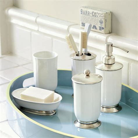 Bathroom Accessories by Fluted Ceramic Bath Accessories Traditional Bathroom Accessories