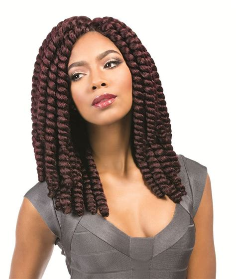 Sensationnel African Collection Crochet Braid MEGA RUMBA TWIST 12 Inch   Ebonyline Braid