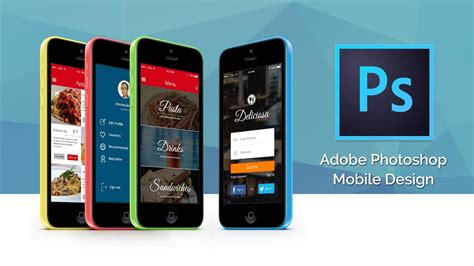mobile photoshop learn ui ux mobile app design in photoshop