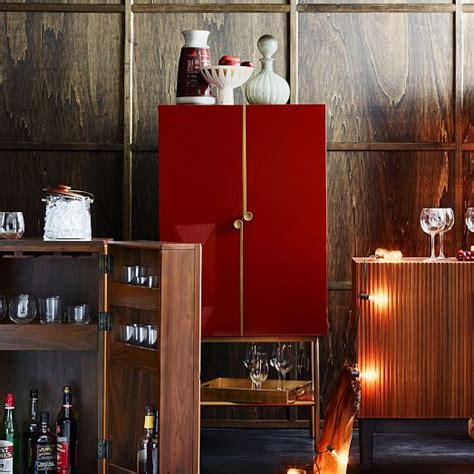 west elm graphic bar cabinet downing bar cabinet paprika antique brass west elm