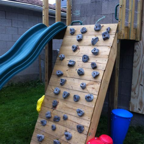 diy outdoor climbing wall diy climbing wall this would be a great idea for jeff