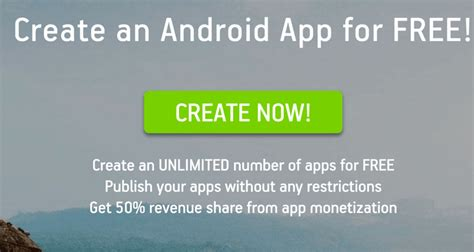 create android app 3 popular website to create android apps yourself