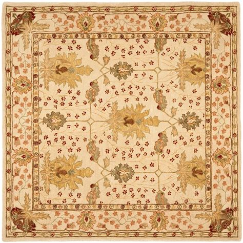 8 x 8 square area rugs safavieh anatolia ivory 8 ft x 8 ft square area rug an540a 8sq the home depot