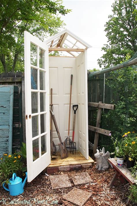 diy small backyard diy garden shed from upcycled materials