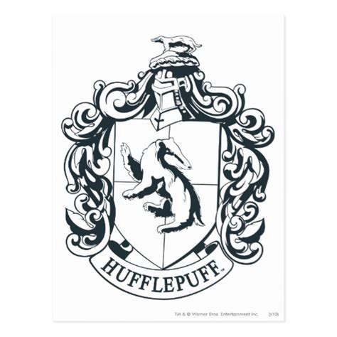 harry potter coloring pages hufflepuff hufflepuff crest postcard zazzle