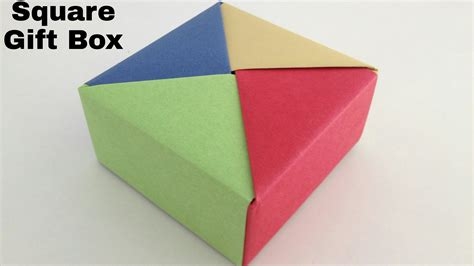Paper Folded Box - origami square gift box diy modular origami tutorial by