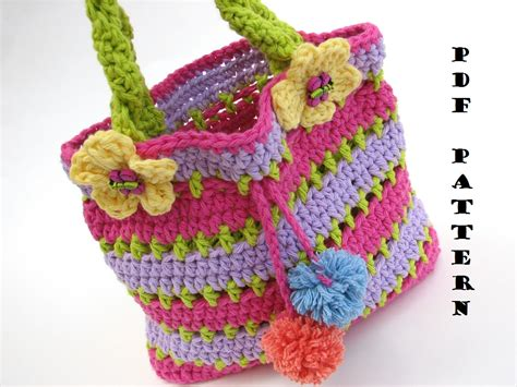 crochet bag pattern with pictures colorful girls bag purse crochet pattern pdf easy