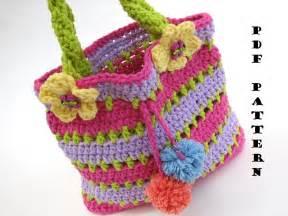 crochet bag pattern video colorful girls bag purse crochet pattern pdf easy