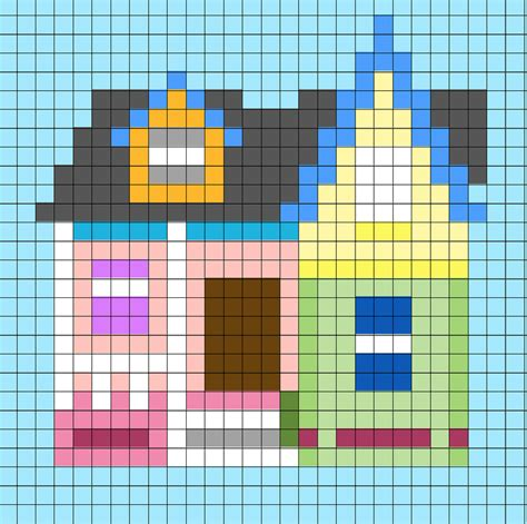 bead up house from up perler bead pixel pattern pixel shop