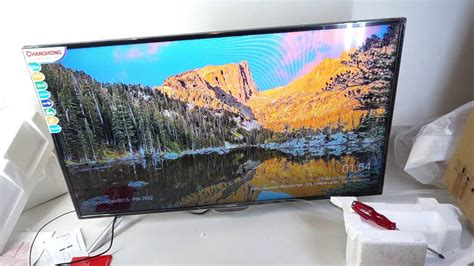 Tv Lcd Changhong 50 Inch unboxing changhong lcd tv led 40 d1200