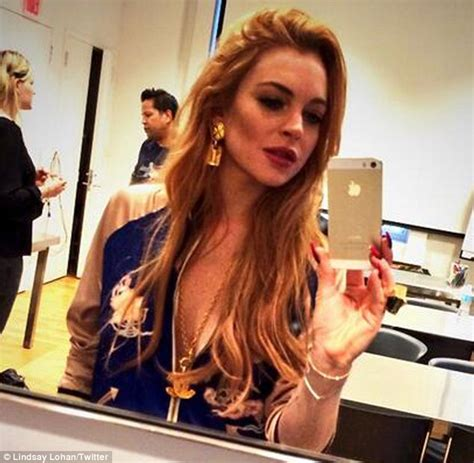 Lindsay Lohan Plays With Knives by Lindsay Lohan Wields Knife While Covered In Blood In Never