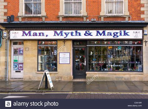 new age shop in glastonbury somerset uk stock photo