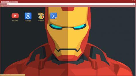 chrome themes marvel iron man material design chrome theme themebeta