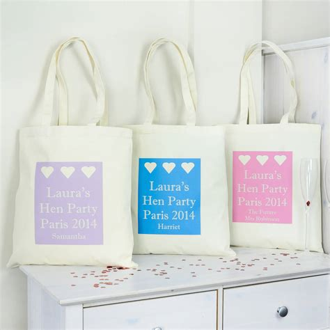 Totebag Blester personalised hen bag by andrea fays notonthehighstreet