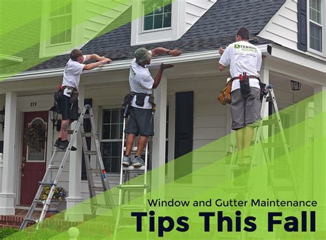 window and gutter maintenance tips this fall