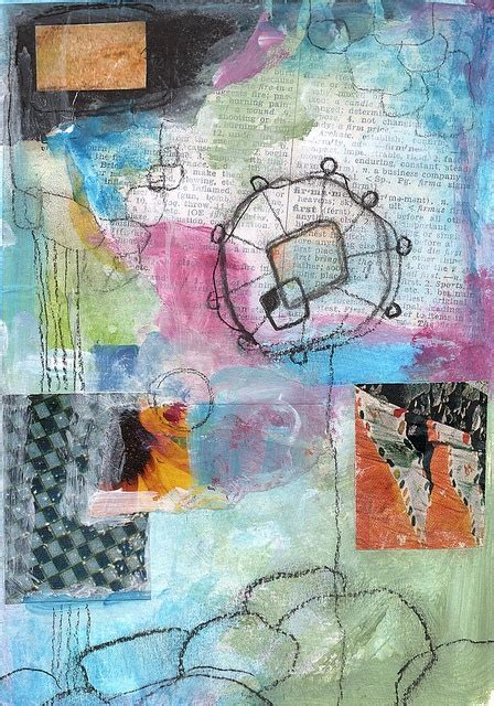 And East Found On Mixed Mixed Media Collage Acrylics Found Papers Charcoal And Colored Pencil Mixed Media