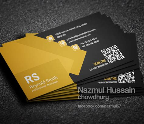 new modern style corporate business cards design