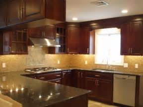 kitchen backsplash cherry cabinets granite design ideas