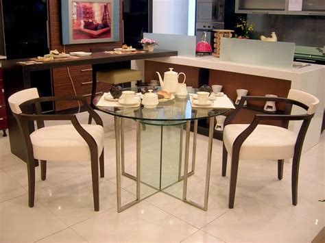 Meja Makan Kaca Bulat meja makan minimalis info bisnis properti foto gambar