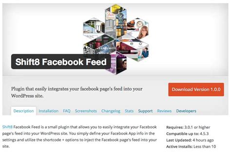 wordpress themes facebook integration wordpress plugin to integrate your facebook page feed