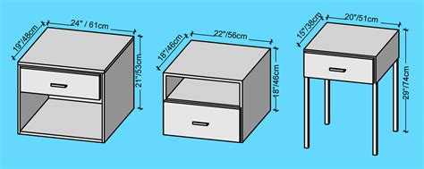 nightstand dimensions standard bedside tables types and measurements