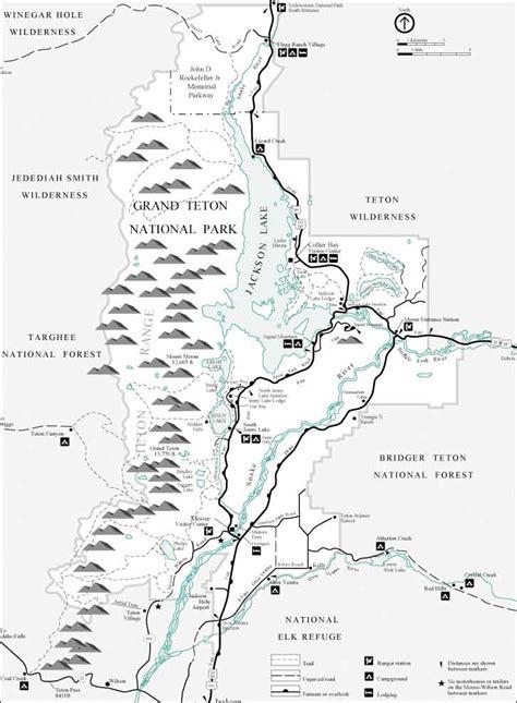 grand map national park grand teton national park map
