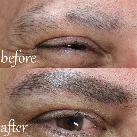 Permanent Makeup For Men | alopecia client male permanent eyebrows sheila bella
