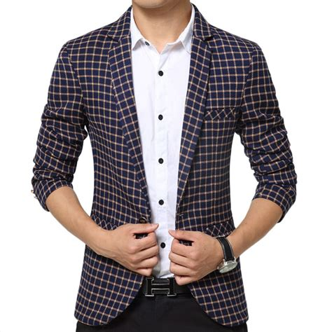 fashion style plaid suit casual blazer 2016 new arrival brand stylish suit jackets and