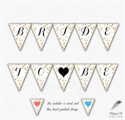 printable wedding banner gold bridal shower banner printable bride to be confetti