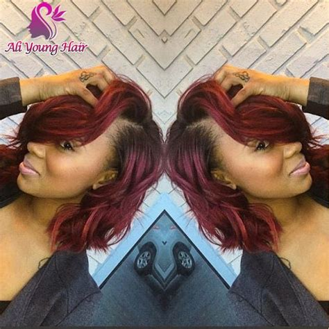 pictures of black ombre body wave curls bob hairstyles find more wigs information about short ombre bob wigs