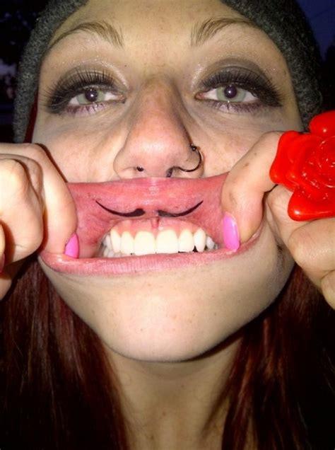 baby vagina tattoo lip tattoos