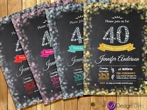 free 40th birthday invitations templates 25 40th birthday invitation templates free sle