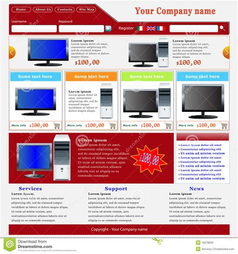 Ecommerce Website Template Royalty Free Stock Photo Image 19278945 Copyright Free Website Templates