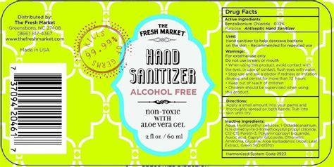 fresh market hand sanitizer alcohol  gel  fresh market