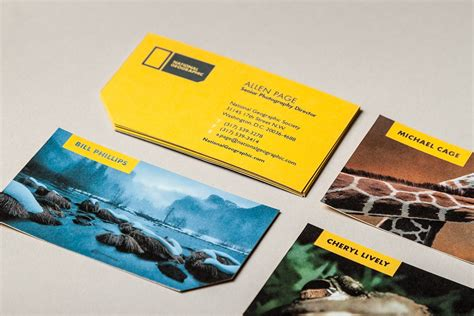 National Geographic Cards - business cards of the week paperspecs
