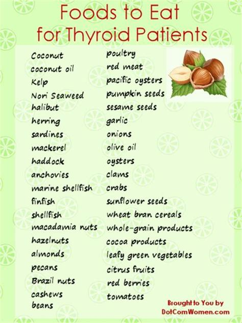printable diet plan for hypothyroidism list of foods to eat for thyroid patients women s health