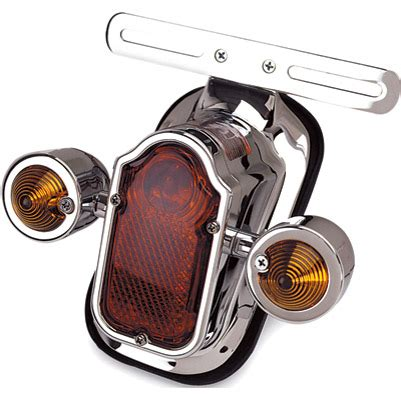 sportster light turn signal combination j p cycles tombstone taillight with turn signals