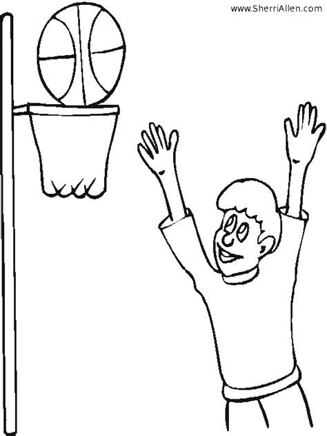 coloring page basketball hoop free sports coloring pages from sherriallen com
