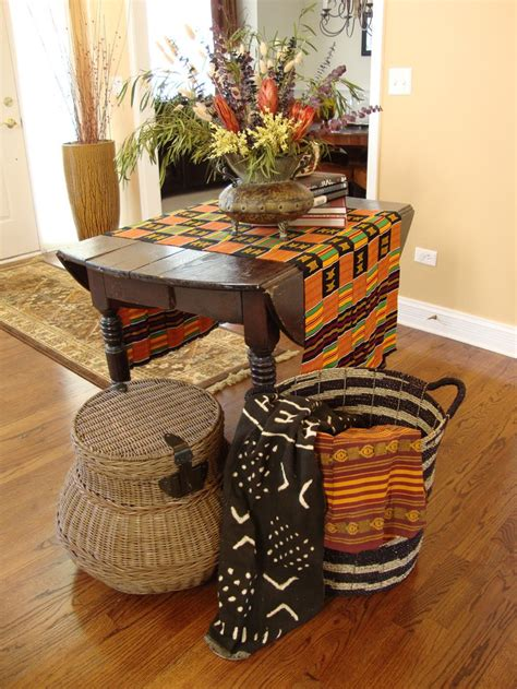 african decorations for the home ethnic textiles and baskets are used to create a global