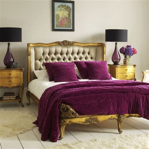 Purple And Gold Bedroom | fall color combination for your bedroom decor dig this