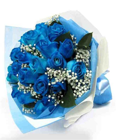 Pariiz Gift Buket Bunga Blue Biru blue sky 15 blue roses exclusive bouquet